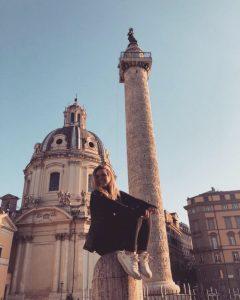 Classics student Zoe in Rome