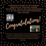Image for Congratulations to Professor T. H. M. Gellar-Goad and Professor Amy Lather!