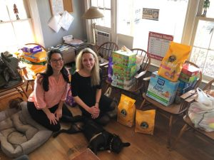 Julie and Amy at AARF with WFU Donations