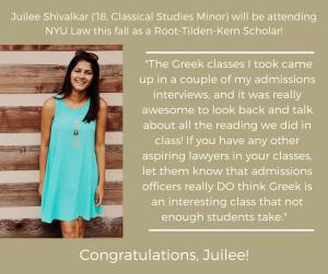 News about alumna Juilee Shivalkar