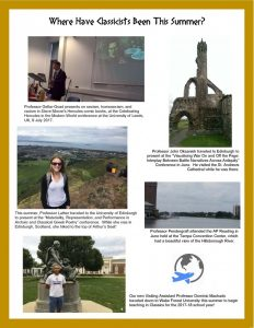 Where Have Classicists Been This Summer?