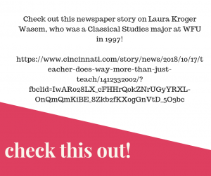 Check this out - a link to a newspaper article on an alum!