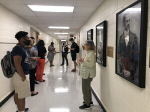 photos from portrait unveiling reception